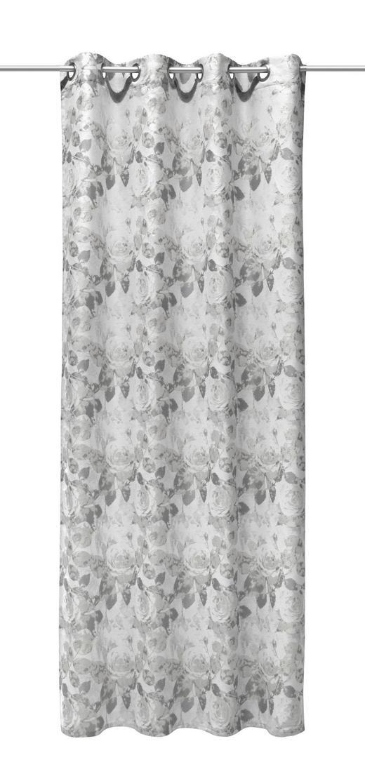 ÖSENSCHAL  Verdunkelung - Grau, Textil (140/245cm)