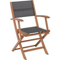 VRTNA SKLOPIVA STOLICA - siva/natur boje, Design, drvo/tekstil (56/90/58cm) - AMBIA GARDEN