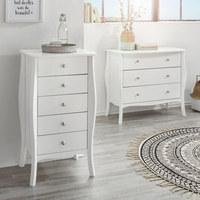 KOMODA - bílá/barvy hliníku, Lifestyle, kov/kompozitní dřevo (80/72/40cm) - Carryhome