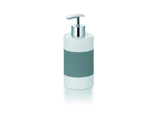 SEIFENSPENDER - Weiß/Grau, Basics, Keramik/Kunststoff (7/17cm)
