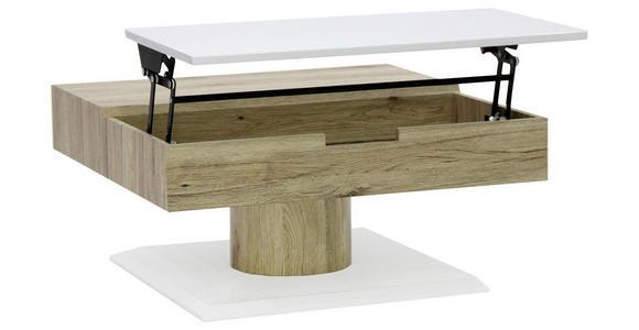 COUCHTISCH in Holzwerkstoff 78/78/40 cm   - Weiß/Sonoma Eiche, Design, Holzwerkstoff (78/78/40cm) - Xora