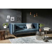 POHOVKA, modrá, textilie - tmavě hnědá/modrá, Design, dřevo/textilie (200/80/87cm) - Carryhome
