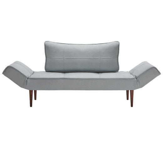 SCHLAFSOFA in Textil Grau  - Dunkelbraun/Grau, Design, Holz/Textil (200/81/70cm) - Innovation