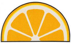 FUßMATTE 50/85 cm Zitronen Gelb - Gelb, Basics, Kunststoff/Textil (50/85cm) - Esposa