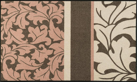FUßMATTE 75/120 cm Graphik Braun, Rosa - Braun/Rosa, Basics, Kunststoff/Textil (75/120cm) - Esposa