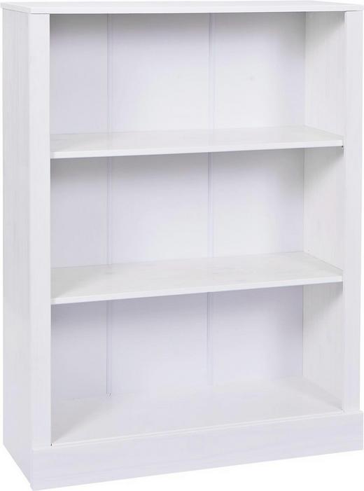 REGAL Kiefer massiv Weiß - Weiß, LIFESTYLE, Holz (90/115/36cm) - Carryhome