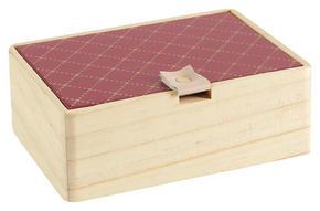 DEKORATIONSLÅDA - guldfärgad/gammelrosa, Trend, metall/träbaserade material (14/10/5cm) - Ambia Home