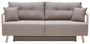 SCHLAFSOFA in Textil Hellbraun  - Hellbraun/Naturfarben, KONVENTIONELL, Holz/Textil (200/92/95cm) - Venda