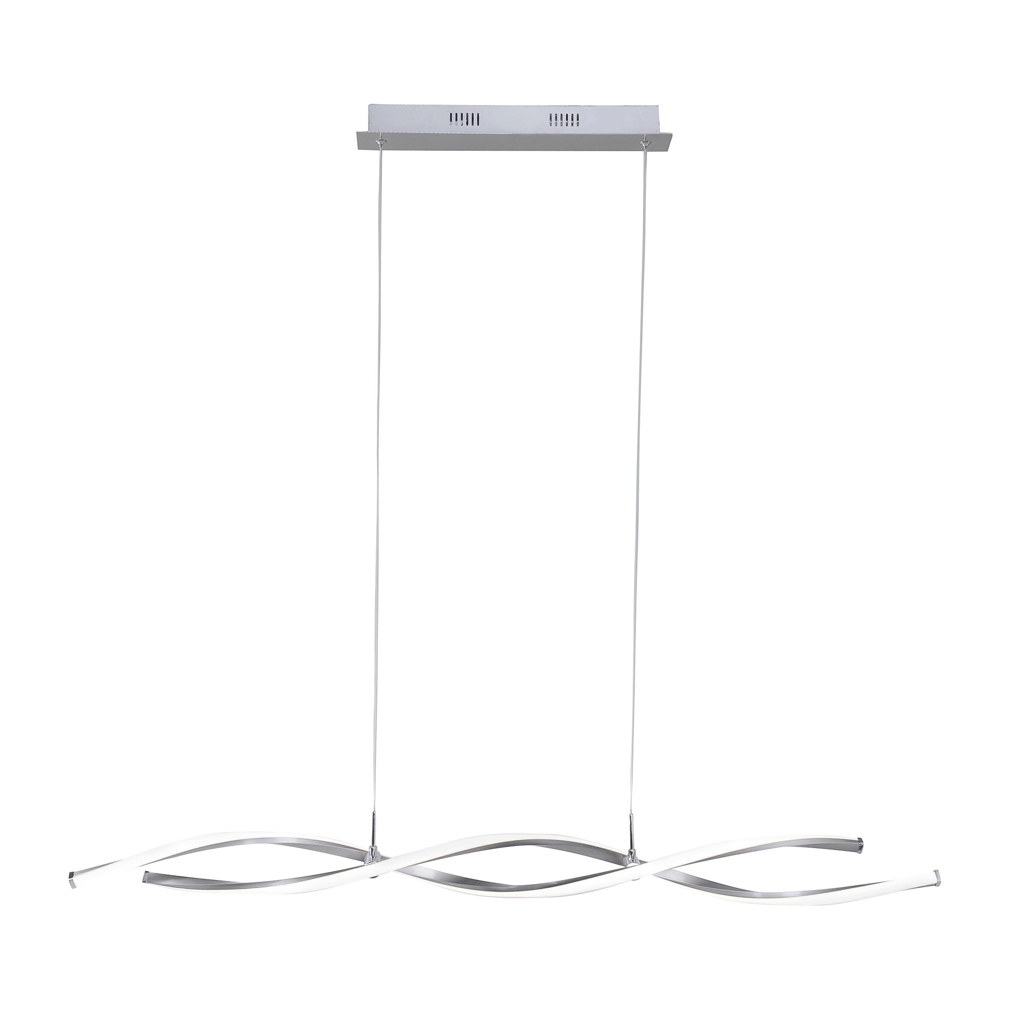 LED-PENDELLAMPA - nickelfärgad, Design, metall (110/80/40-140cm)