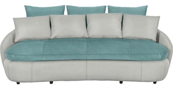 MEGASOFA in Textil Grau, Grün - Schwarz/Grau, Design, Kunststoff/Textil (238/80/143cm) - Hom`in