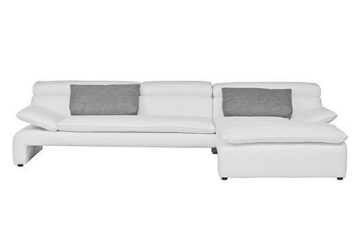 WOHNLANDSCHAFT Flachgewebe, Lederlook Zierkissen - Schwarz/Weiß, Design, Kunststoff/Textil (290/176cm) - CARRYHOME