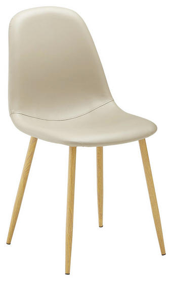 STUHL in Textil Taupe - Taupe/Eichefarben, Design, Textil/Metall (44/87/49,5cm) - Ti`me