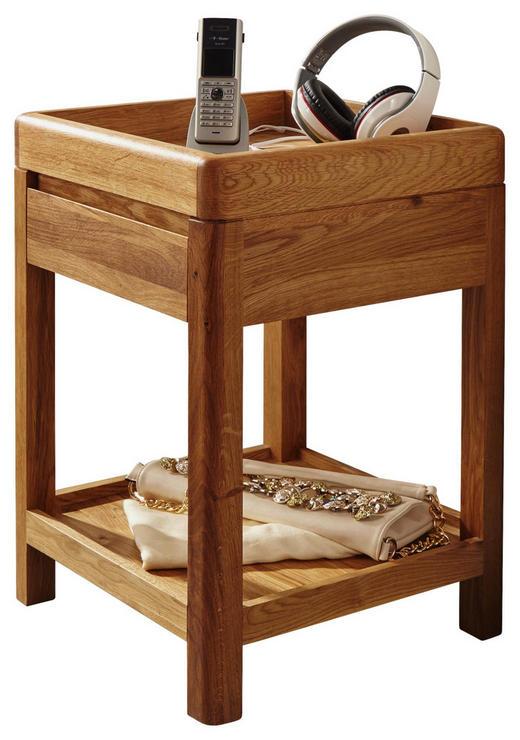 BEISTELLTISCH Wildeiche vollmassiv Eichefarben - Eichefarben, Design, Holz (40/60/40cm) - Carryhome