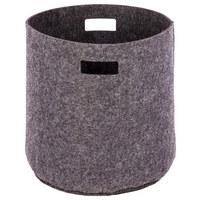 KORB - Hellgrau, LIFESTYLE, Textil (40/40cm)