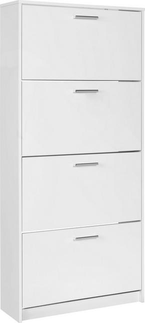 SKOSKÅP - vit/kromfärg, Klassisk, träbaserade material/plast (75/162/25cm) - Low Price