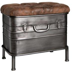 SITTBÄNK - brun/antracit, Design, metall/textil (51/48/34cm) - Carryhome