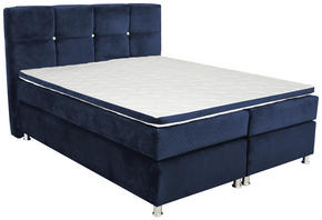 KONTINENTALSÄNG - mörkblå, Design, metall/textil (180/200cm)