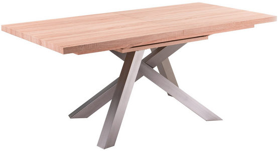 TRPEZARIJSKI STO - Sonoma hrast, Dizajnerski, Metal/Pločasti materijal (180/240/76/90cm) - Xora