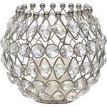 KERZENHALTER - Klar/Silberfarben, Trend, Glas/Metall (13/11cm) - Ambia Home