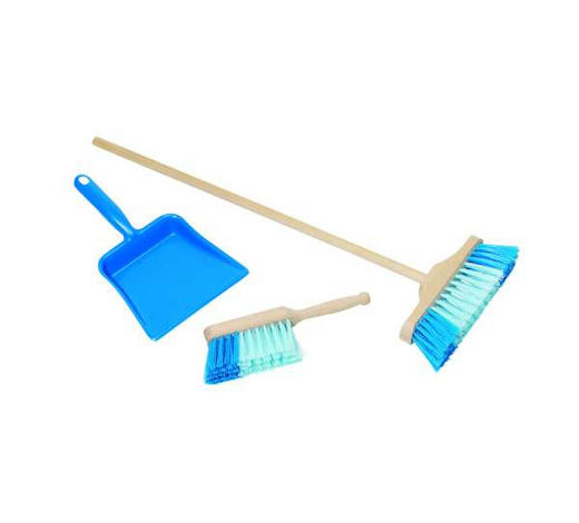 LOPATKA SE SMETÁČKEM - modrá, Basics, dřevo/umělá hmota (52.5cm) - My Baby Lou