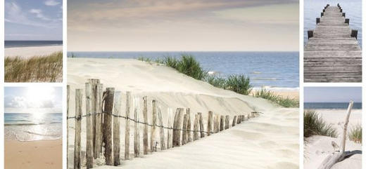 Strand & Meer KEILRAHMENBILD - Multicolor, Basics, Holz/Textil (66/48cm) - Eurographics