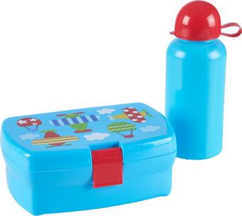 LUNCHBOX-SET - Blau, Basics, Kunststoff - MY BABY LOU