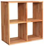 REGAL  75,4/75,4/35 cm Buchefarben  - Buchefarben, Natur, Holz (75,4/75,4/35cm) - Carryhome