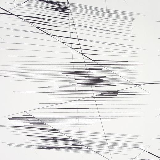 DEKOSTOFF per lfm blickdicht - Schwarz/Weiß, Design, Textil (150  cm) - Esposa