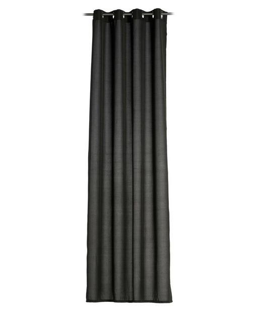 ÖSENSCHAL  blickdicht   140/245 cm - Schwarz, Basics, Textil (140/245cm)