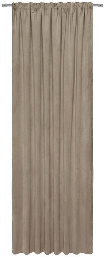 FERTIGVORHANG blickdicht - Sandfarben, KONVENTIONELL, Textil (140/300cm) - Esposa