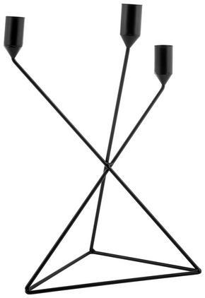 LJUSSTAKE - svart, Basics, metall (25/37/8cm)