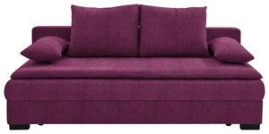 SCHLAFSOFA in Textil Beere  - Beere/Schwarz, KONVENTIONELL, Kunststoff/Textil (207cm) - Venda