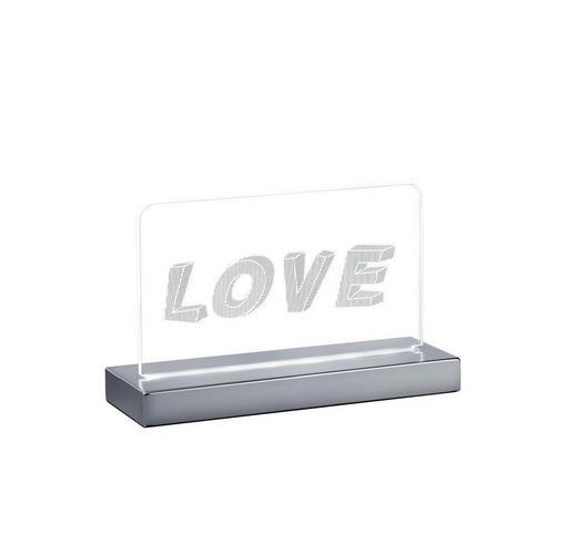 LED-TISCHLEUCHTE - Chromfarben, Trend, Kunststoff/Metall (20,0/12,7/7,0cm)