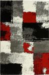 Webteppich Saphira - Rot/Grau, KONVENTIONELL, Textil (200/290cm) - Ombra