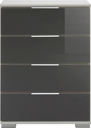 SÄNGBORD - vit/alufärgad, Design, metall/glas (52/74/38cm) - Low Price