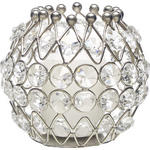 KERZENHALTER - Klar/Silberfarben, Trend, Glas/Metall (8/8cm) - Ambia Home
