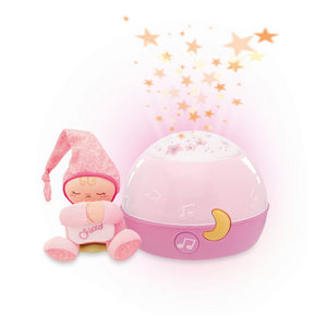 NOĆNA LAMPA - Pink/Ružičasta, Osnovno, Tekstil/Plastika (17cm) - Chicco