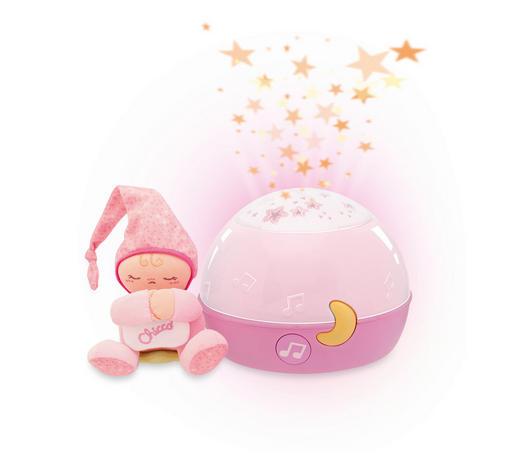 NOĆNO SVJETLO - roza/pink, Basics, tekstil/plastika (17cm) - Chicco