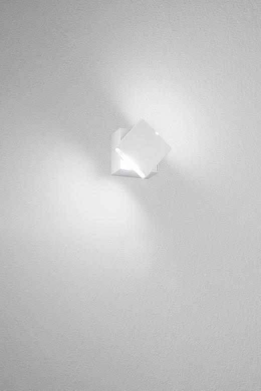 LED-WANDLEUCHTE - Weiß, Design, Kunststoff/Metall (6/6/5,3cm)