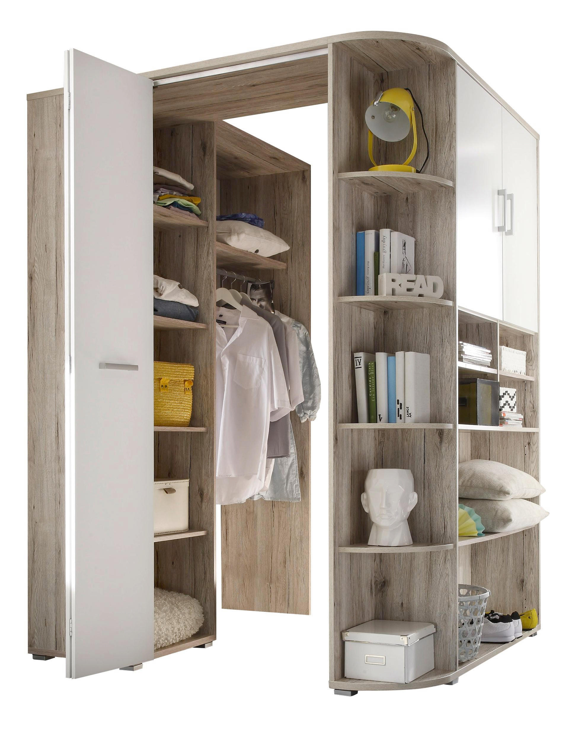 Wundervoll Eckschrank Garderobe Dekoration Von Beautiful Beautiful In Eichefarben Wei Design With