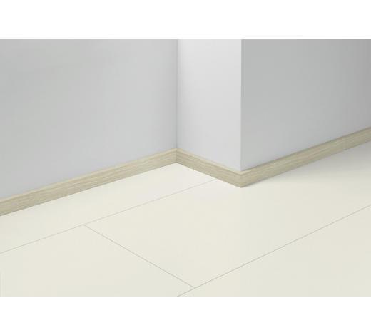 SOCKELLEISTE Weiß, Eichefarben - Eichefarben/Weiß, Basics, Holzwerkstoff (257/4/1,6cm) - Parador
