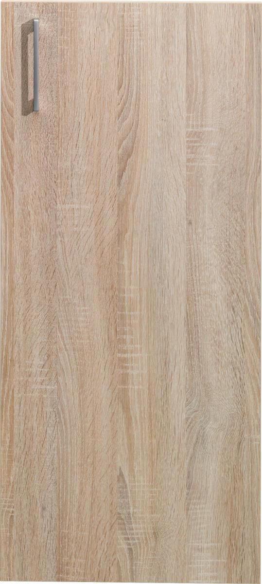 TÜR 43/96/1,5 cm Eichefarben - Eichefarben/Silberfarben, Design, Kunststoff (43/96/1,5cm) - CS SCHMAL