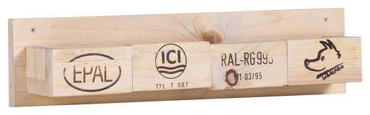 WANDREGAL massiv Naturfarben - Naturfarben, Trend, Holz (60/14/12cm) - Carryhome