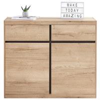 KOMODA - šedá/barvy dubu, Konvenční, dřevěný materiál (116/99/38cm) - Xora