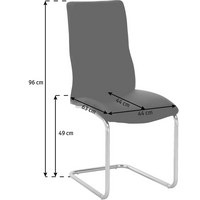 SCHWINGSTUHL in Metall, Textil Schwarz - Schwarz, Design, Textil/Metall (44/96/63cm) - Carryhome