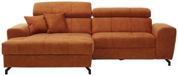WOHNLANDSCHAFT in Textil Orange  - Rostfarben/Schwarz, MODERN, Textil/Metall (181/267cm) - Carryhome