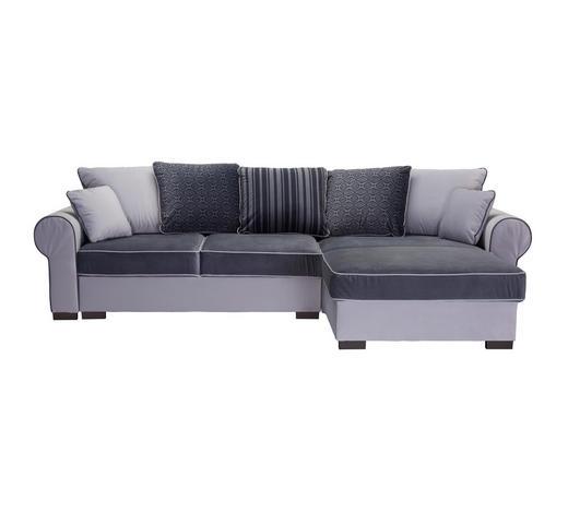 SEDACÍ SOUPRAVA, textil, bílá, světle šedá - bílá/světle šedá, Romantický / Rustikální, textil/umělá hmota (310/193cm) - Hom`in