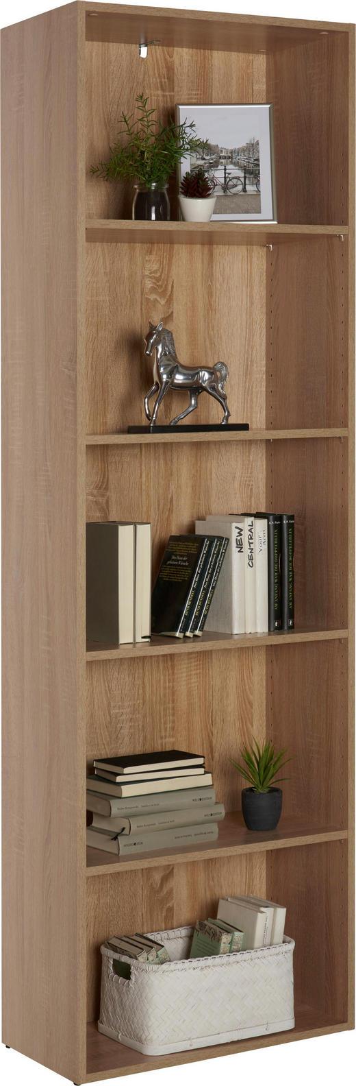 REGAL Eichefarben - Eichefarben/Schwarz, Design, Holzwerkstoff/Kunststoff (60/192/32cm) - Carryhome