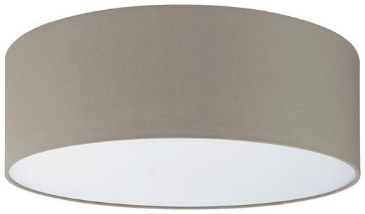 DECKENLEUCHTE - Taupe/Weiß, KONVENTIONELL, Textil/Metall (98/17cm)