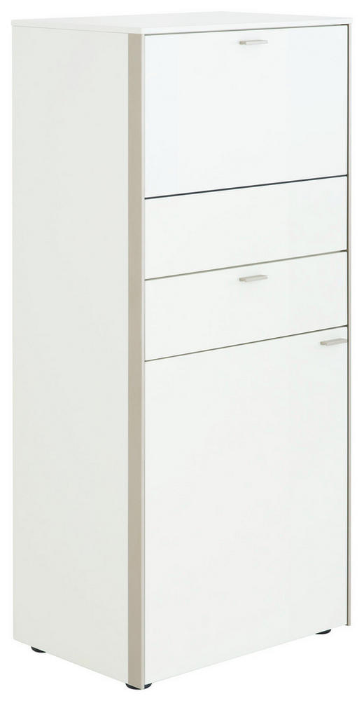HIGHBOARD - Edelstahlfarben/Schwarz, Design, Holzwerkstoff/Metall (62/139/43cm) - Venjakob
